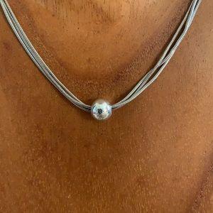 Silpada Thoreau ball Necklace 925 Sterling silver